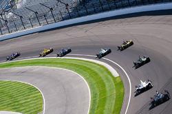 Trainingsbetrieb auf dem Indianapolis Motor Speedway