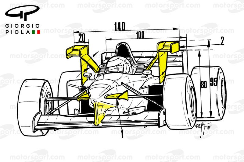 Tyrrell 025 voorkant, Monaco GP