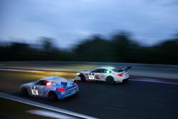 """#100 Schubert Motorsport, BMW M6 GT3: John Edwards, Jens Klingmann, Lucas Luhr, Martin Tomczyk; #112 Care For Climate, Porsche Cayman GT4: """"Smudo"""", Tom von Löwis of Menar, Daniel Schellhaas, Axel Duffner"""