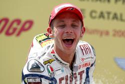Podium: juara lomba Valentino Rossi, Yamaha Factory Racing