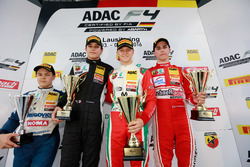 Podium: Bester Rookie Felipe Drugovich, Neuhauser Racing ; 2. Kami Laliberté, Van Amersfoort Racing; 1. Mick Schumacher, Prema Powerteam; 3. Thomas Preining, Lechner Racing