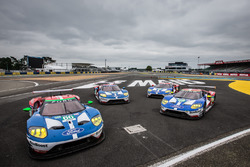 four Ford Chip Ganassi Racing Ford GT pose