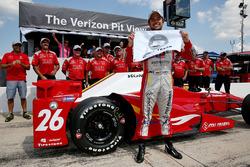 Ganador de la pole Carlos Muñoz, Andretti Autosport Honda