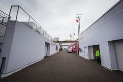 Porsche Team paddock