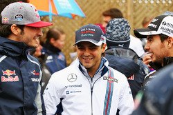(L to R): Carlos Sainz Jr., Scuderia Toro Rosso with Felipe Massa, Williams and Sergio Perez, Sahara Force India F1