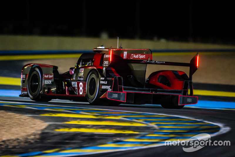 6: #8 Audi Sport Team Joest Audi R18: Lucas di Grassi, Loic Duval, Oliver Jarvis