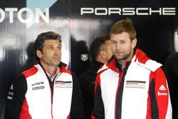 Микаэль Кристенсен, #77 Dempsey Proton Competition Porsche 911 RSR и Патрик Демпси