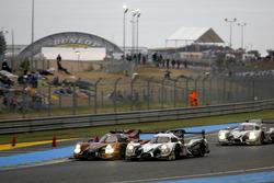 #49 Michael Shank Racing, Ligier JS P2 Honda: John Pew, Oswaldo Negri, Laurens Vanthoor; #30 Extreme Speed Motorsports, Ligier JS P2 Nissan: Scott Sharp, Ed Brown, Johannes van Overbeek