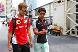 Себастьян Феттель, Ferrari и Серхио Перес, Sahara Force India F1