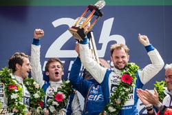 LMP2 podium: class winners #36 Signatech Alpine A460: Gustavo Menezes, Nicolas Lapierre, Stéphane Richelmi