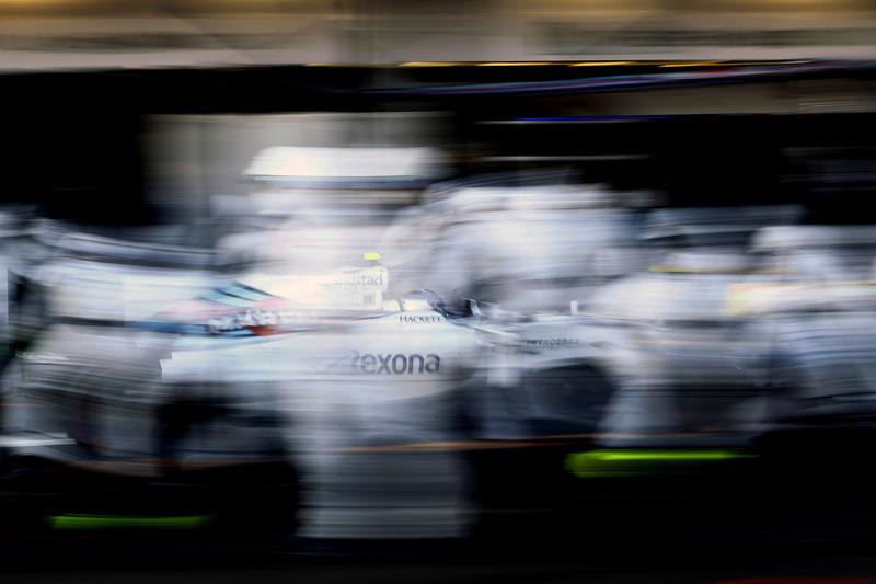 Valtteri Bottas, Williams FW38, pit stop