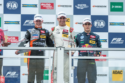 Podium: Anthoine Hubert, Van Amersfoort Racing Dallara F312 - Mercedes-Benz, Lance Stroll, Prema Powerteam Dallara F312 ツ�Mercedes-Benz