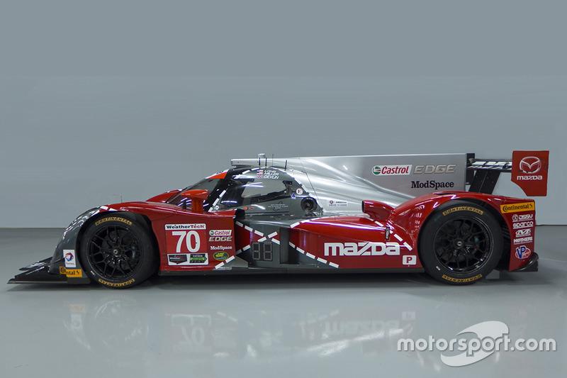 Livrea speciale per la #70 Mazda che celebra il 25esimo anniversario della vittoria di Mazda a Le Mans