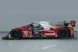 Special livery for the #70 Mazda celebrating the 25th anniversary of Mazda's win at Le Mans