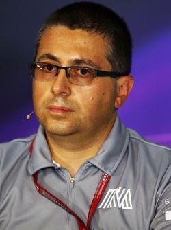 Luca Furbatto, Capo progettista Manor Racing nella conferenza stampa FIA
