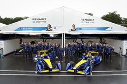e.Dams Team Photo; Nicolas Prost, Renault e.Dams and Sébastien Buemi, Renault e.Dams