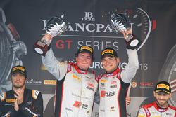 Podium: pemenang #33 Belgian Audi Club Team WRT Audi R8 LMS GT3: Enzo Ide, Christopher Mies