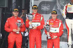 Podium Am: Sieger #55 AF Corse: Ferrari 458 Italia GT3: Claudio Sdanewitsch, Stéphane Lemeret