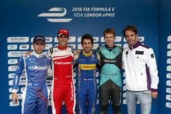 Die Top 5 im Qualifying: Nicolas Prost, Renault e.Dams; Bruno Senna, Mahindra Racing; Robin Frijns, Amlin Andretti Formula E Team ; Oliver Turvey, NEXTEV TCR Formula E Team; Jean-Eric Vergne, DS Virgin Racing
