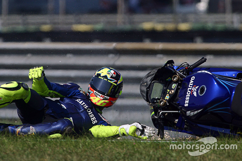 Choque de Valentino Rossi