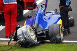 Marcus Ericsson, Sauber C35 va a sbattere nella terza sessione di prove