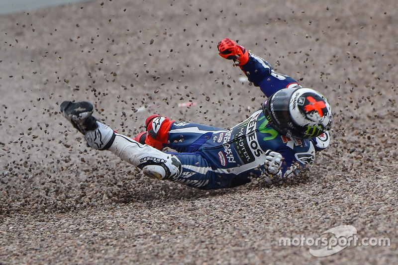 Crash: Jorge Lorenzo, Movistar Yamaha MotoGP