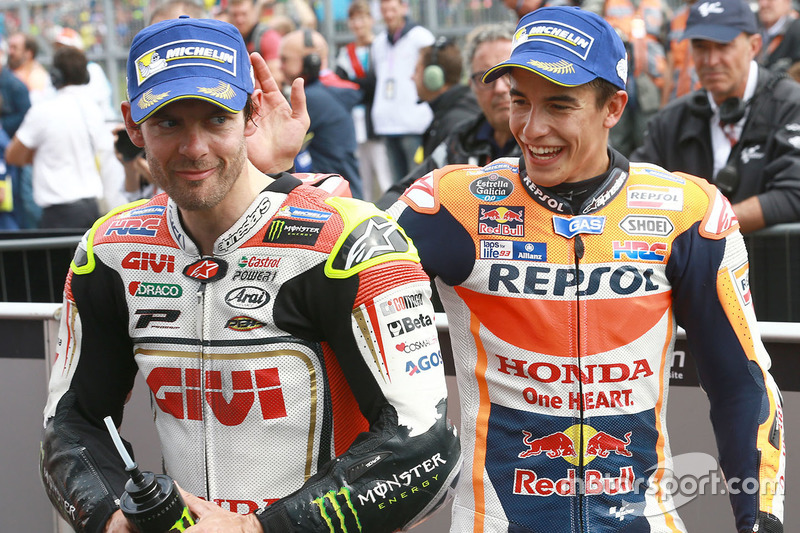 Winner Marc Marquez, Repsol Honda Team and second place Cal Crutchlow, Team LCR Honda