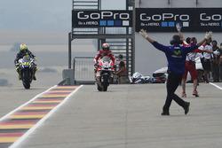 Intercambio de bicicletas de los equipos de Andrea Dovizioso, Ducati Team y Valentino Rossi, Yamaha Factory Racing