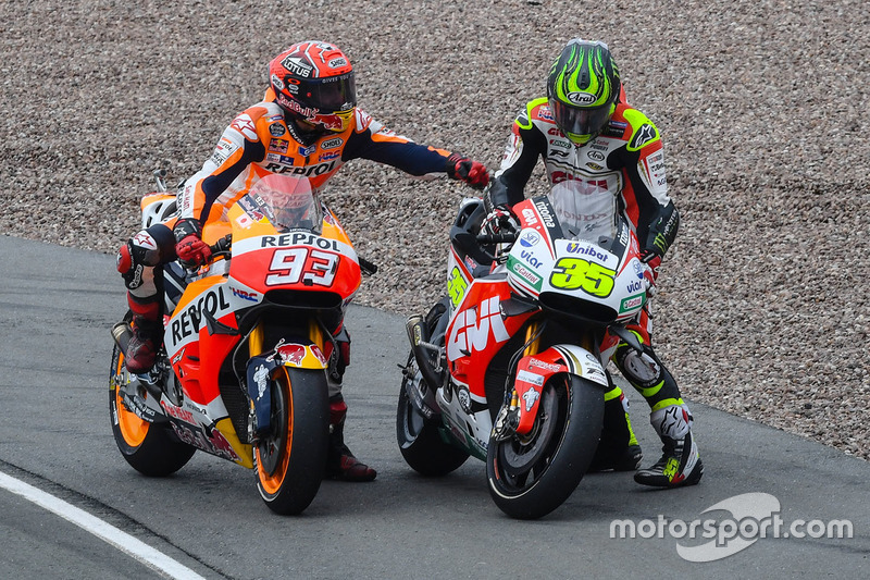 Marc Marquez, Repsol Honda Team and Cal Crutchlow, Team LCR Honda