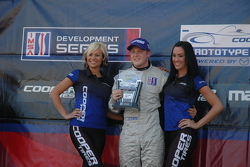 Ryan Booth in Victory Lane following IMSA Lights race #2