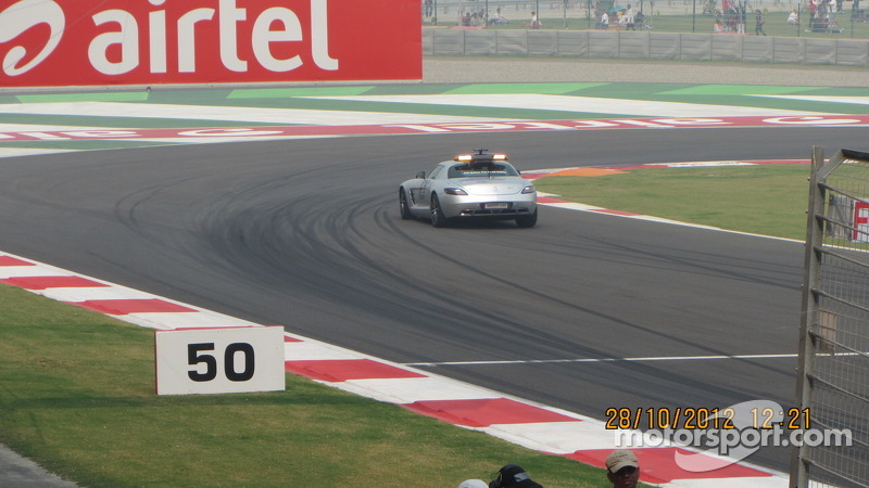 Safety car inspecting the track