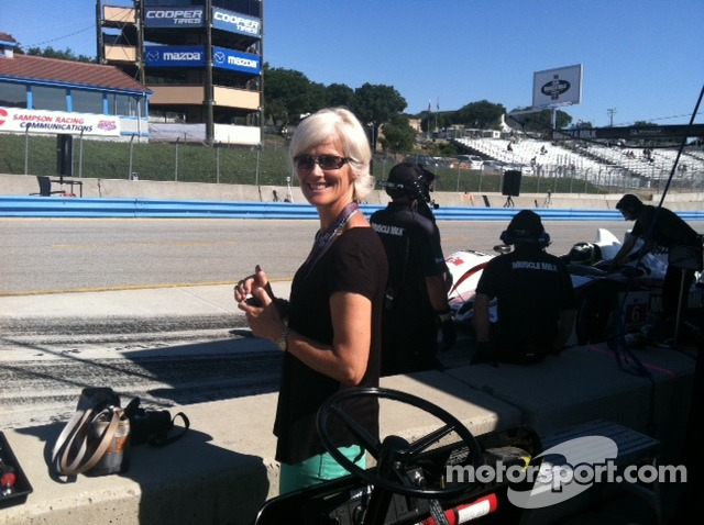 Ellie in the pit lane