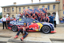 Whincup and team on podium