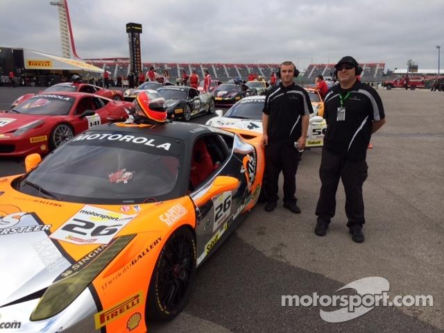Don Cameron & Bill Barrett of the Auto Gallery Motorsports Ferrari Challenge team