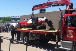 Helio Castroneves crash damage