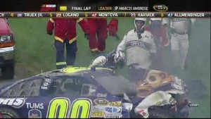 Marcos Ambrose wins at Watkins Glen and Reutimann crashes big - Watkins Glen International 2011