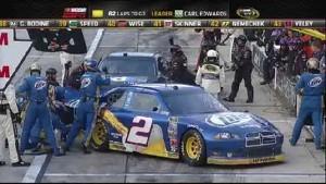 Keselowski and Hamlin Hit on Pit Road - Texas Motor Speedway 20111