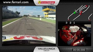 Ferrari 458 Challenge On-Board Kamera: Lorenzo Casé in Vallelunga