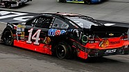 Blown tire spins Tony Stewart at Bristol Motor Speedway