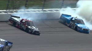 Quiroga and Busch crash!!
