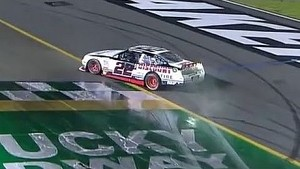 Keselowski Does a Burnout in the Rain!   Feed The Children 300, Kentucky