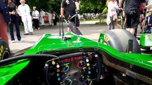 Goodwood Festival of Speed - Caterham F1 & Alexander Rossi first hillclimb prep