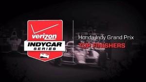 2014 Honda Indy Grand Prix: Top Finishers