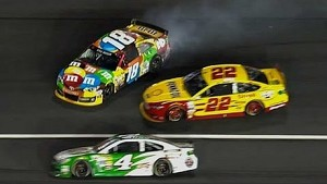 Busch gets loose, collects Logano