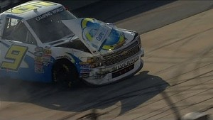 Newberry slams the frontstretch wall - 2014 NASCAR CWTS at Dover