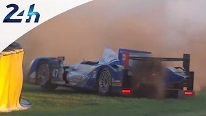 KCMG #47 wrecks for a second time - Le Mans 2014
