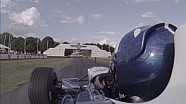 Damon Hill reunited with his 1996 F1 title-winning Williams FW18 at Goodwood