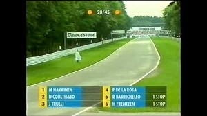 Crazy fan on track at the German GP 2000
