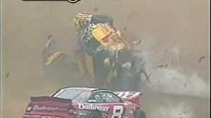 Massive flip/crash for Earnhardt & Park - 2002 Pocono