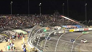 Crazy fan climbs the fence at Richmond during the NASCAR Sprint Cup race